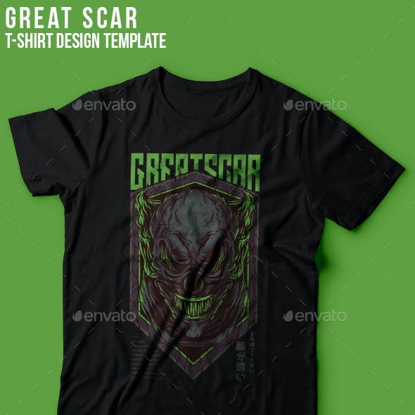 Great Scar T-Shirt Design
