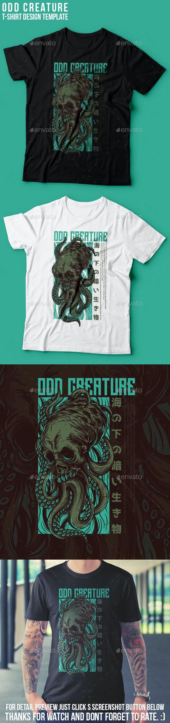 Odd Creature T-Shirt Design - Grunge Designs