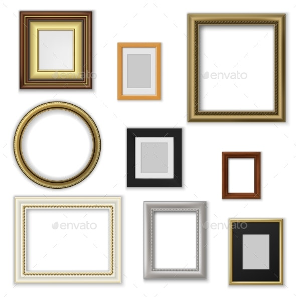 Picture and Photo Frames, Interior Blank Borders - Man-made Objects Objects