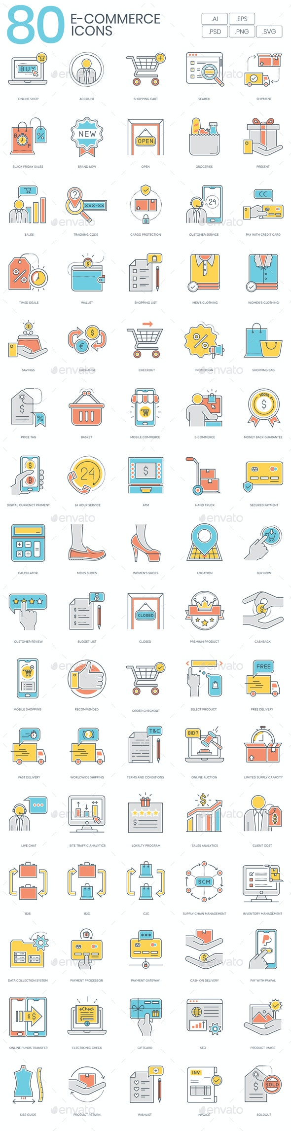 Online Shopping Icons - Business Icons