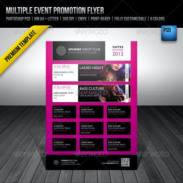 Multiple Event Promotion Flyer