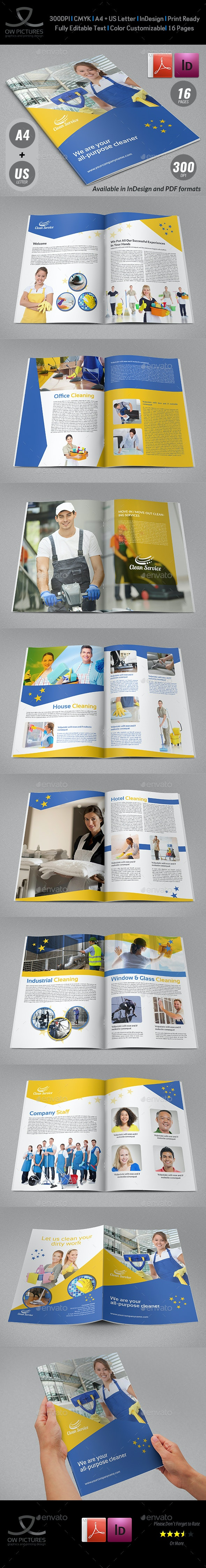 Cleaning Services Brochure Template - 16 Pages - Brochures Print Templates