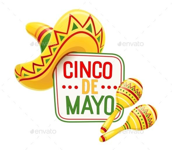 Sombrero and Maracas for Cinco De Mayo - Miscellaneous Seasons/Holidays