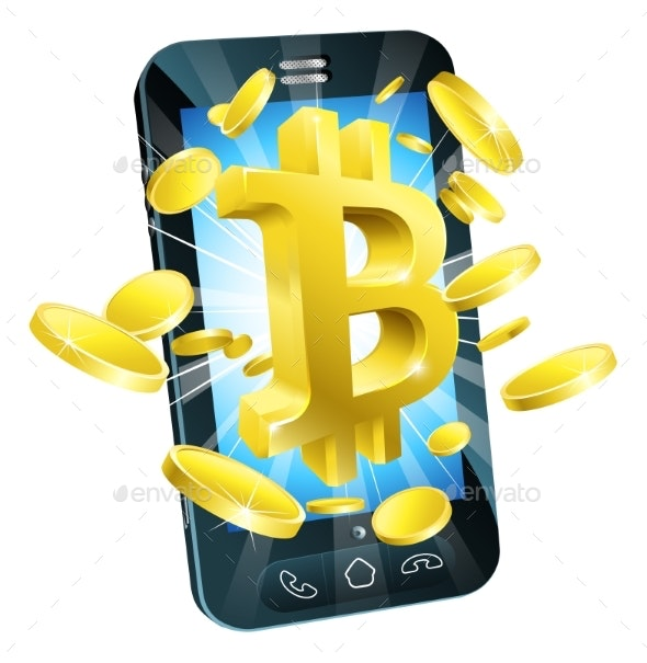 Mobile Phone Bitcoin Concept - Concepts Business