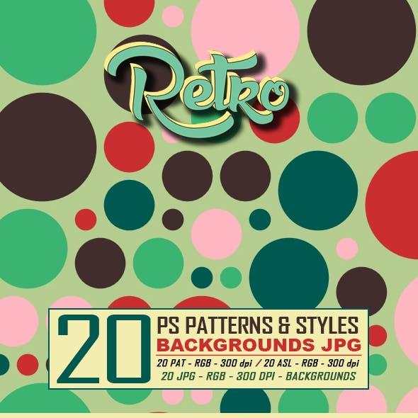 20 Retro Dots Patterns & Styles