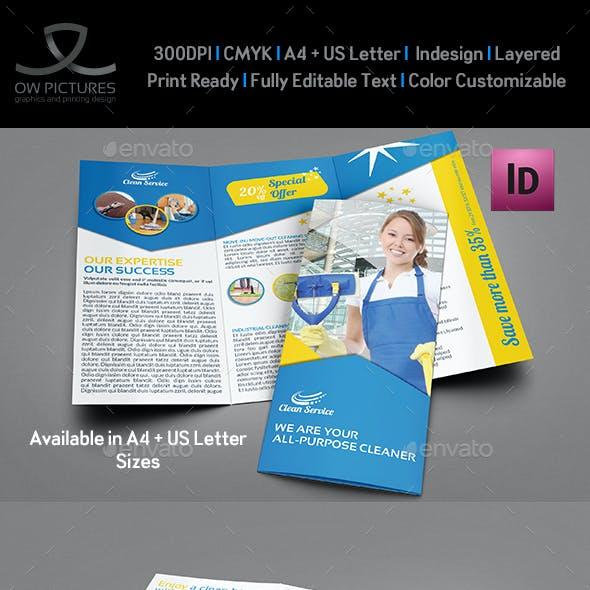 Cleaning Services Tri-Fold Brochure Vol.3