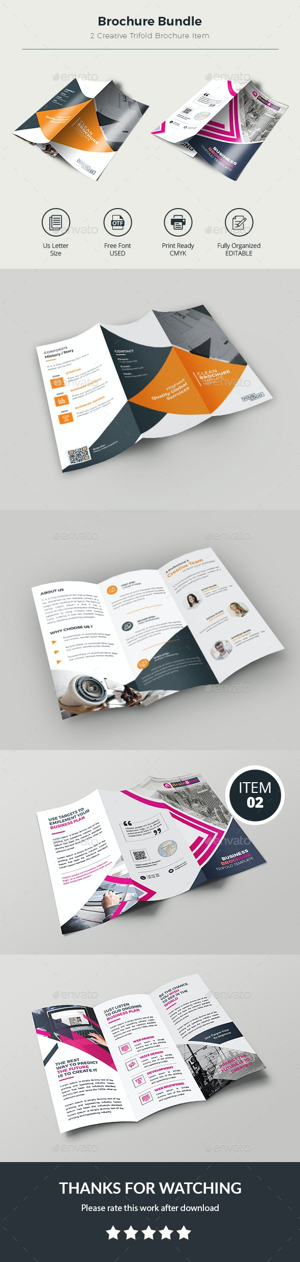 Trifold Brochure Bundle - Corporate Brochures