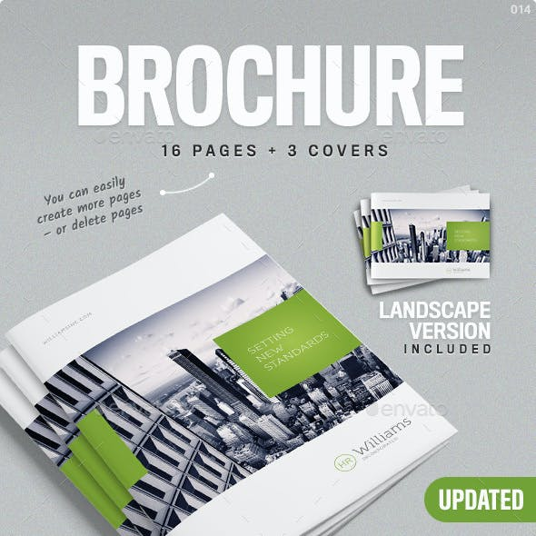 Corporate Business Brochure 16 pages A4 + Letter