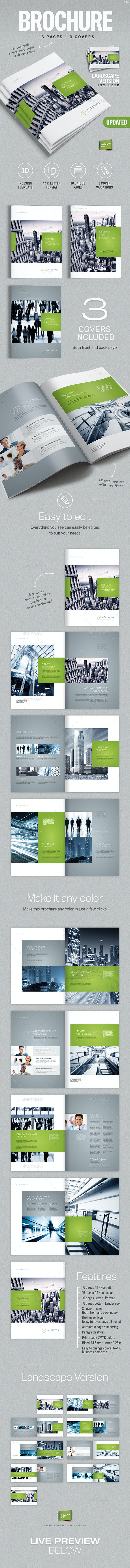 Corporate Business Brochure 16 pages A4 + Letter - Corporate Brochures