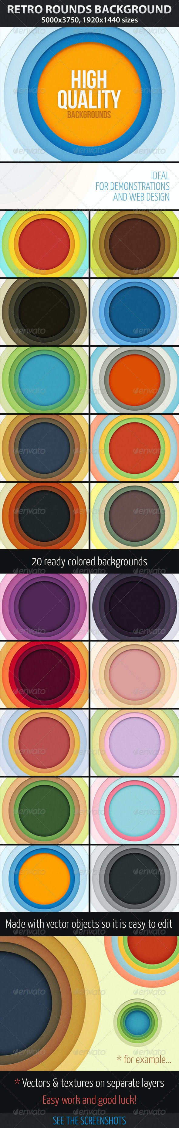 Retro Rounds Background - Backgrounds Graphics