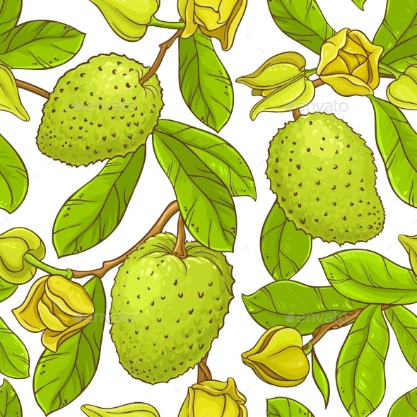 Soursop  Vector Pattern - Food Objects
