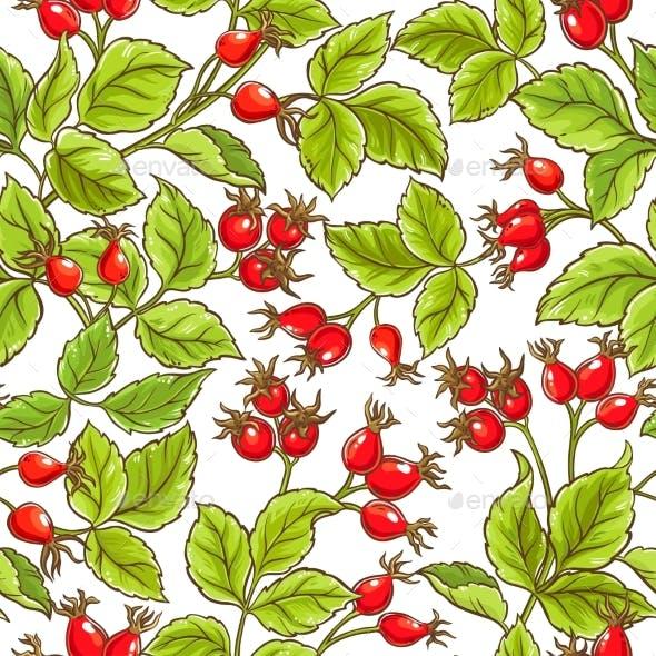 Wild Rose Vector Pattern