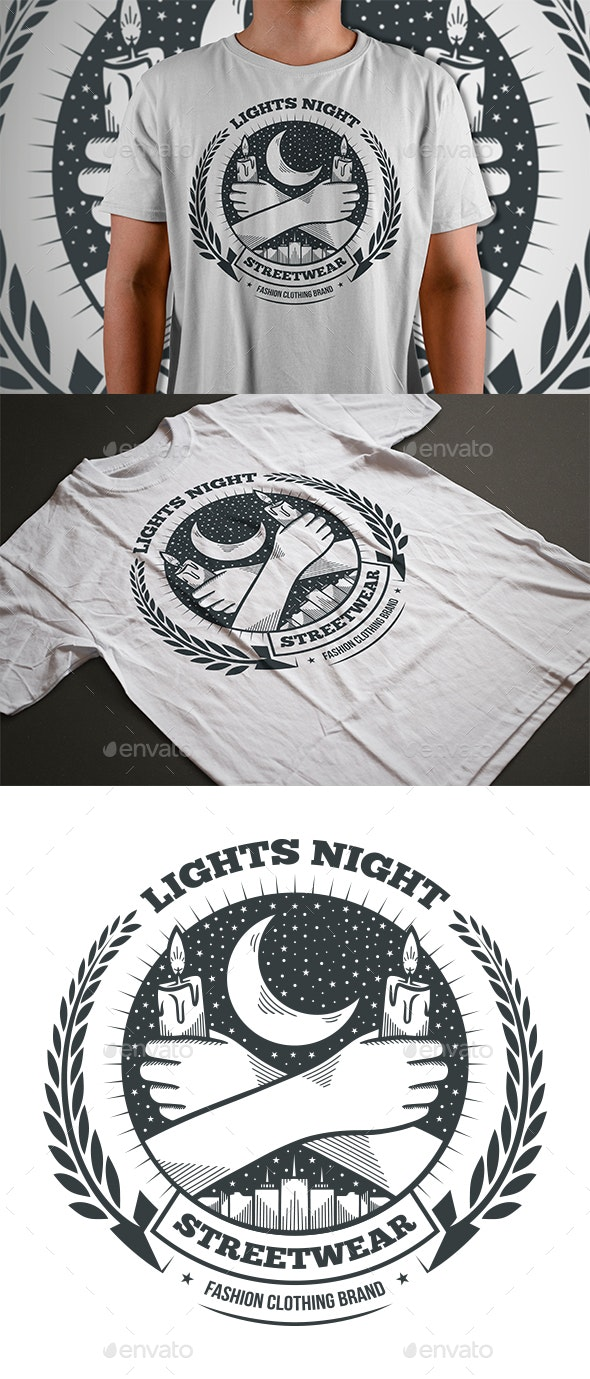 Lights in the Night T-shirt - Designs T-Shirts