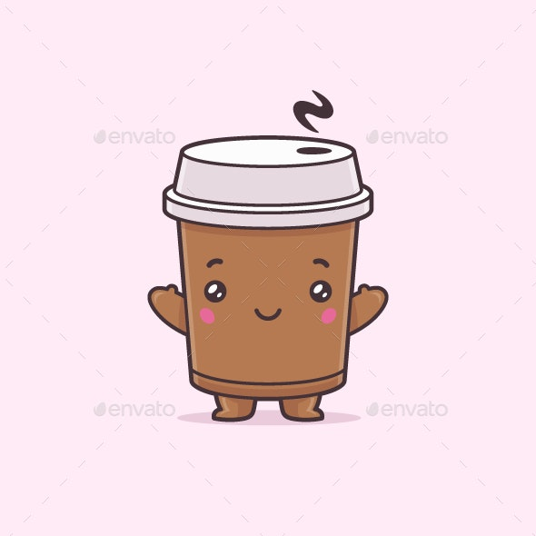Coffee Character - Food Objects