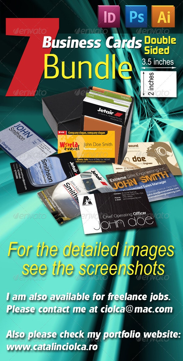 7 Business Cards Bundle - Creative Business Cards