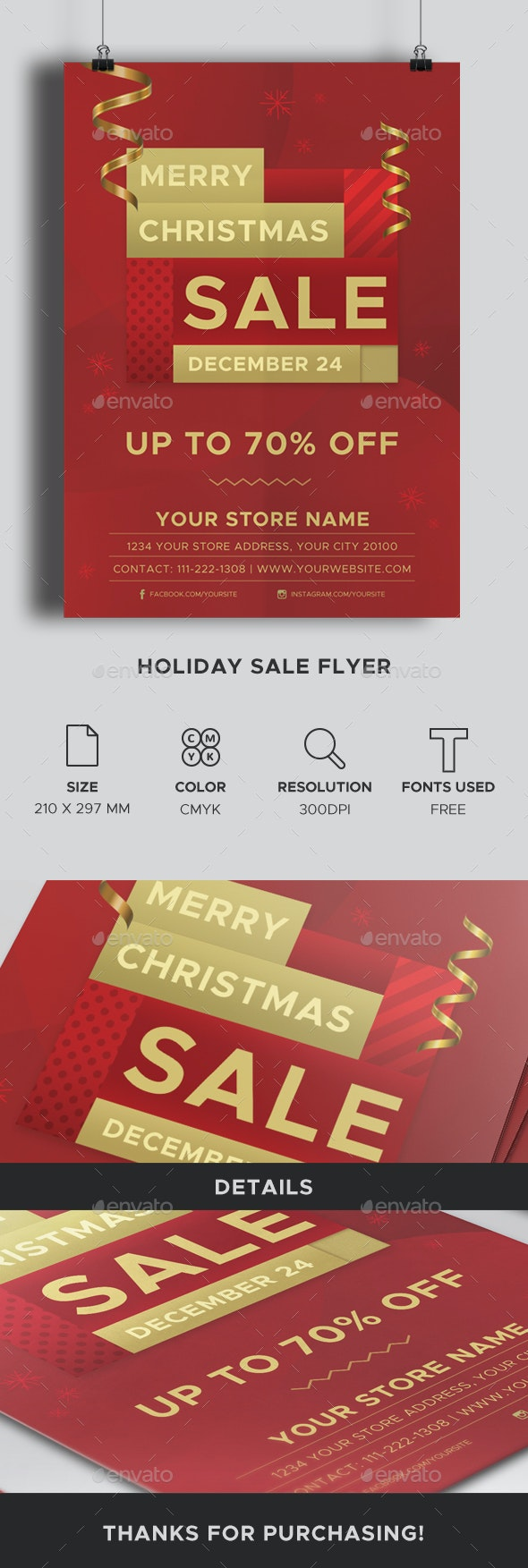 Holiday Sale Flyer - Holidays Events