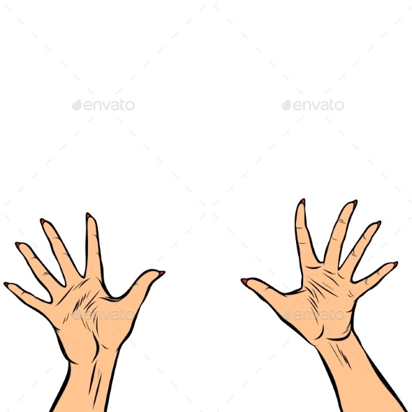 Woman Hands Fingers High Five - People Characters