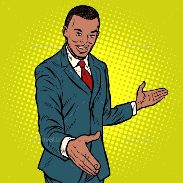Businessman Shaking Hands - Concepts Business