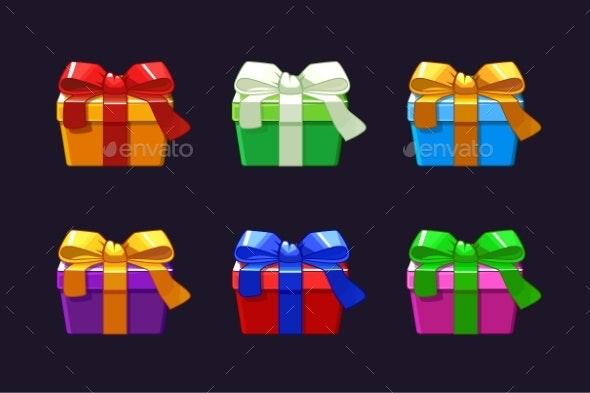 Cartoon Different Gift Box - Christmas Seasons/Holidays