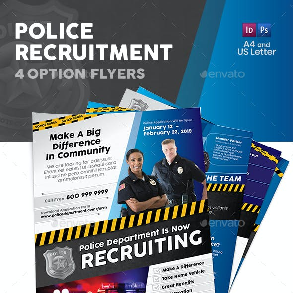 Police Flyers – 4 Options