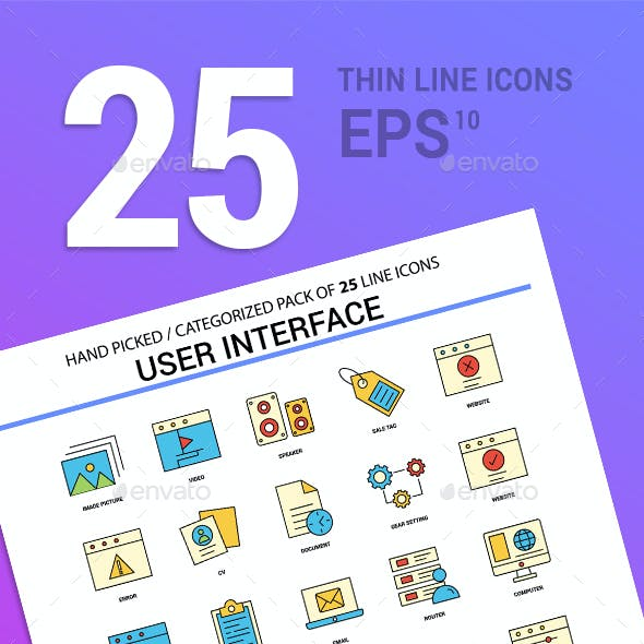 Icon Pack User Interface Line Filled