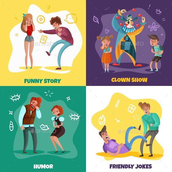 Laughing People Design Concept - Miscellaneous Vectors