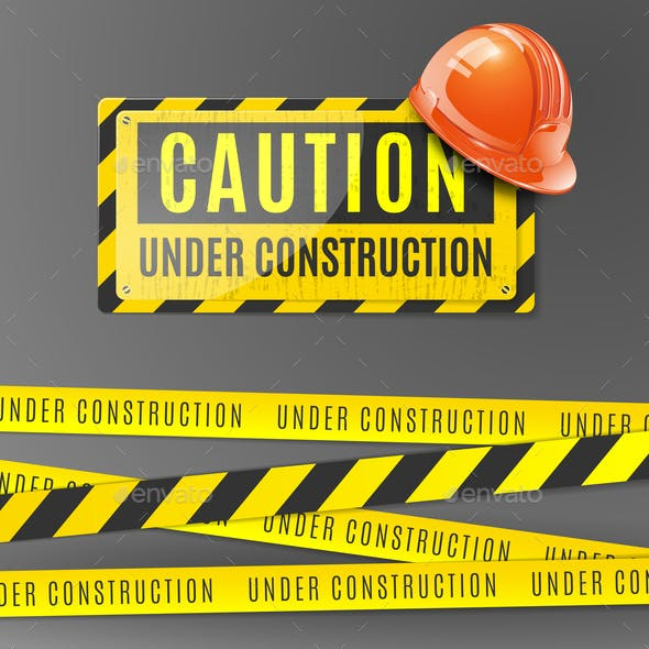Under Construction Realistic Poster