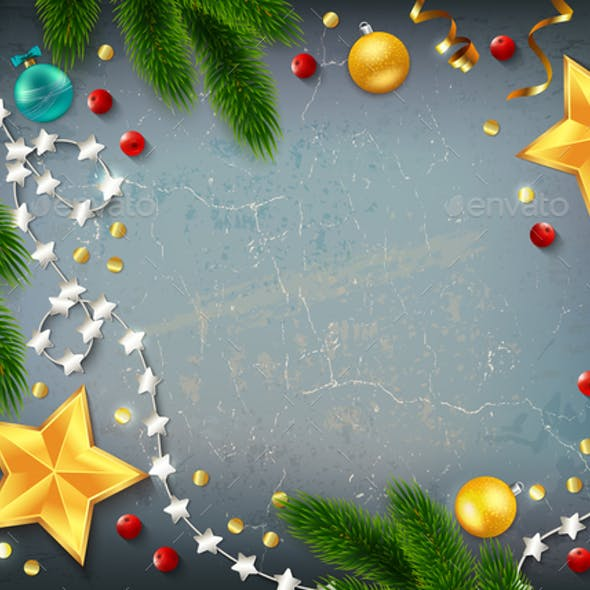 Christmas Frame Elements Composition