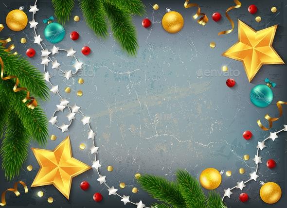 Christmas Frame Elements Composition - Christmas Seasons/Holidays