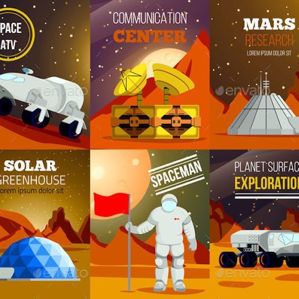 Planet Colonization Flat Cards
