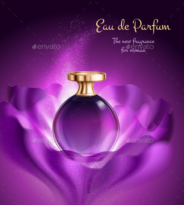 Perfume For Woman Advertising Composition - Backgrounds Decorative
