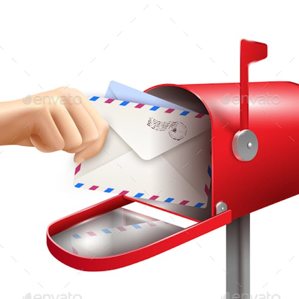 Realistic Mail Box Composition