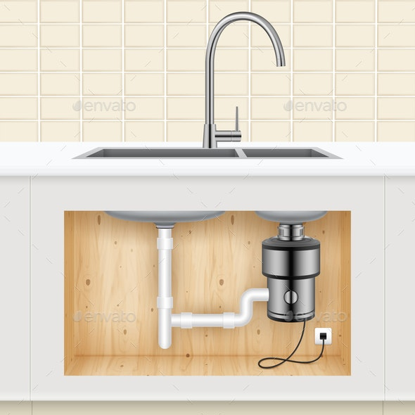 Kitchen Sink Food Waste Disposer - Man-made Objects Objects