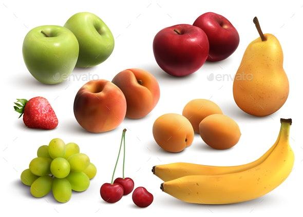 Fruits Realistic Set - Food Objects