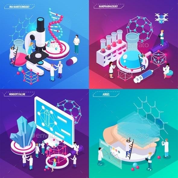 Nanotechnology 2x2 Design Concept - Health/Medicine Conceptual