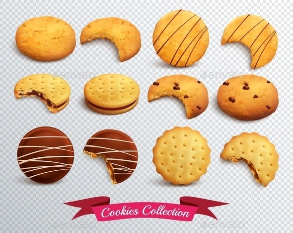 Cookies Transparent Set - Food Objects