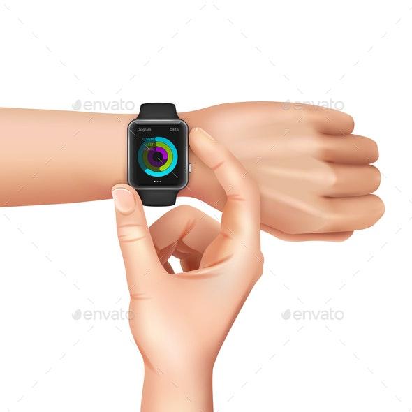 Realistic Smart Watch - Sports/Activity Conceptual