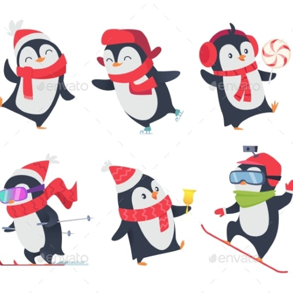 Penguins Cartoon Characters