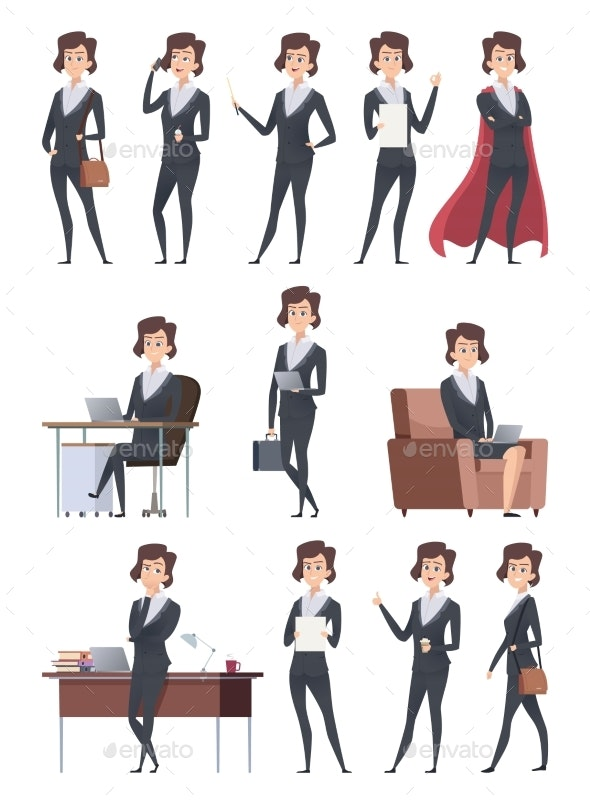 Female Business Characters - People Characters