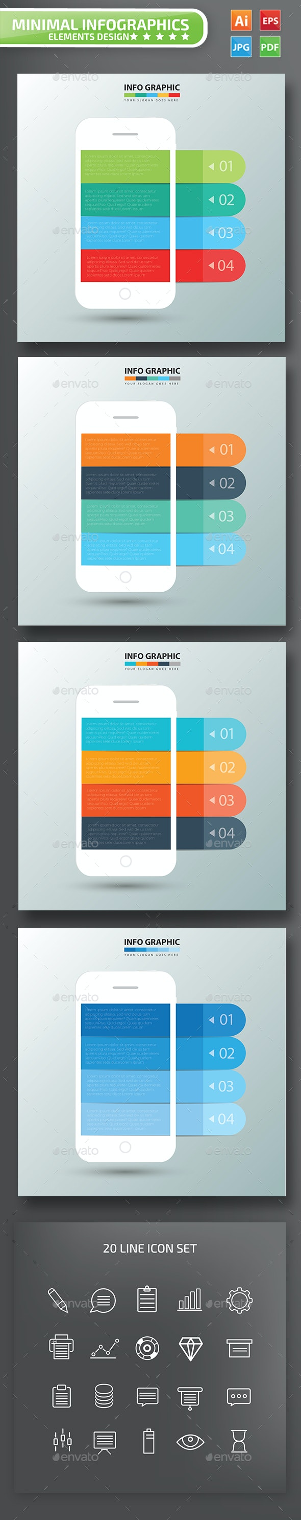 Mobile phone Infographic Design - Infographics