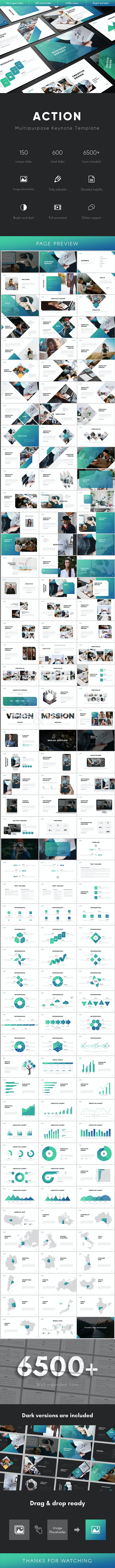 Action Multipurpose Keynote Template - Business Keynote Templates