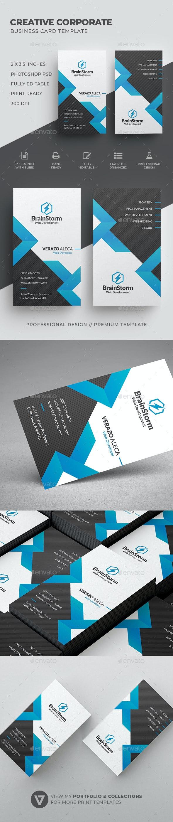 Creative Corporate Business Card Template - Corporate Business Cards