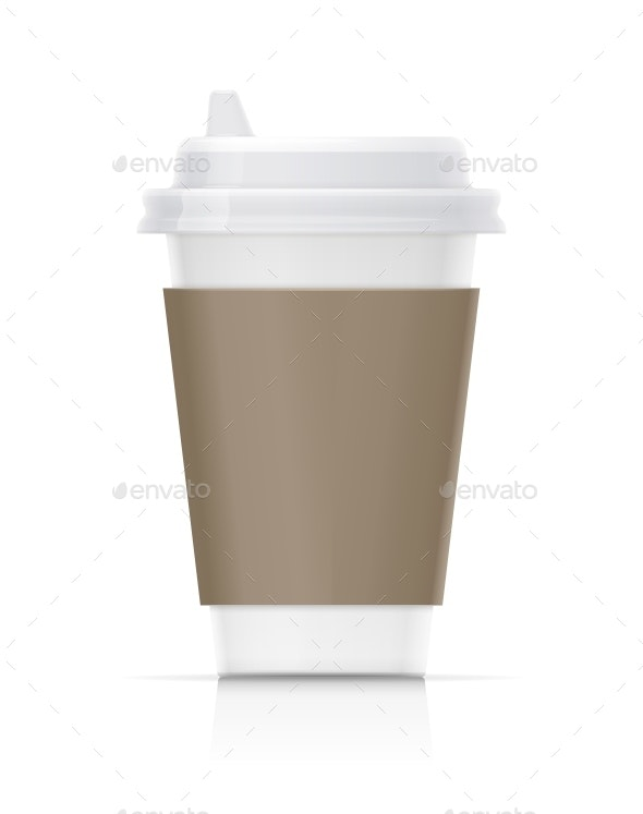 Paper Cup for Fast-Food Drink - Food Objects