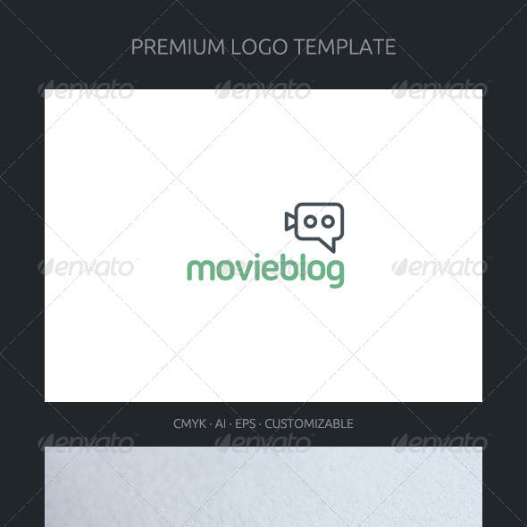 Movie Blog and Chat Logo Template