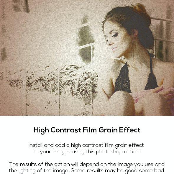 High Contrast Film Grain Effect
