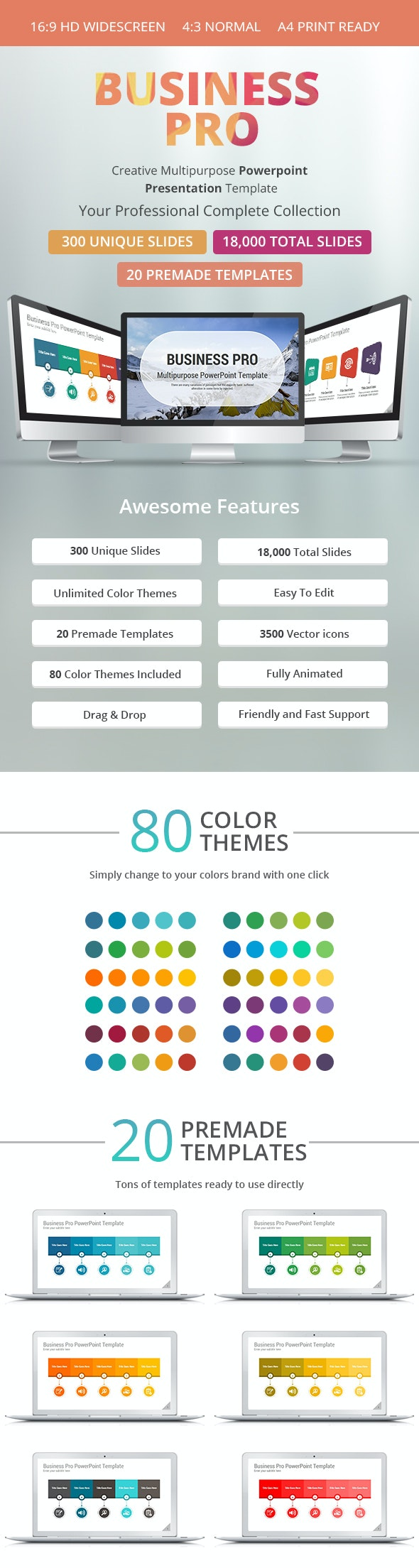 Business Pro PowerPoint Presentation Template - Business PowerPoint Templates