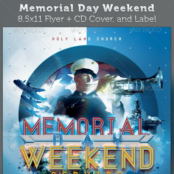 Memorial Day Weekend Full Page Flyer and CD Cover