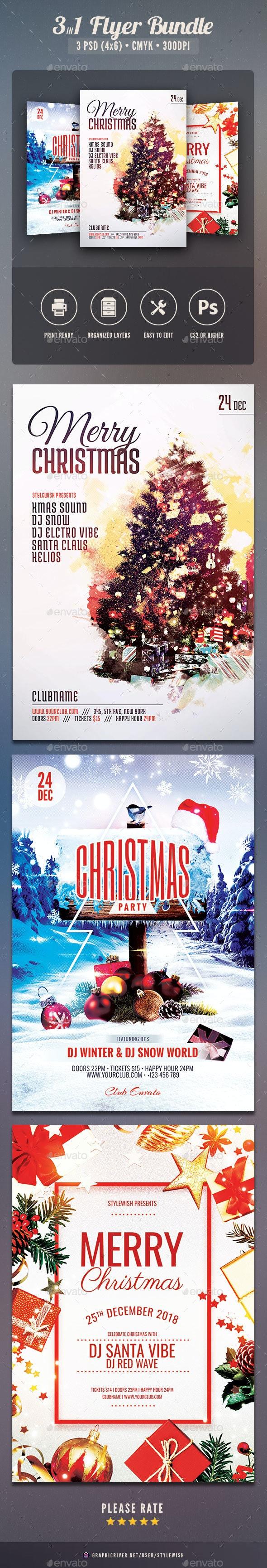 Christmas Flyer Bundle Vol.06 - Clubs & Parties Events