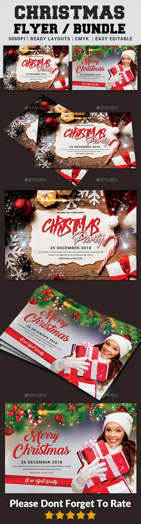 Christmas Flyer Bundle Templates - Events Flyers