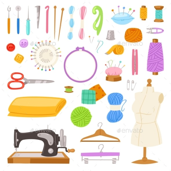 Sewing Vectors - Man-made Objects Objects